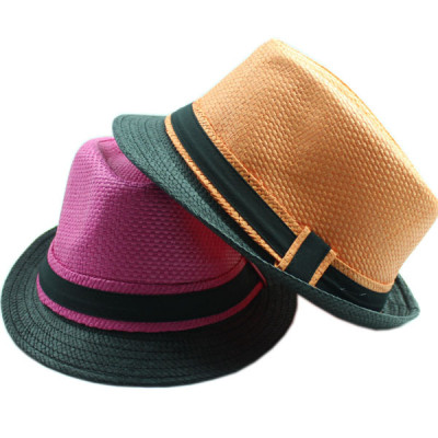 The New Unisex Fashion Mixed Batch Spell Color Popular Straw Hat