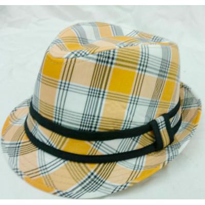 Cotton Plaid Spring Ladies Fashion Hat