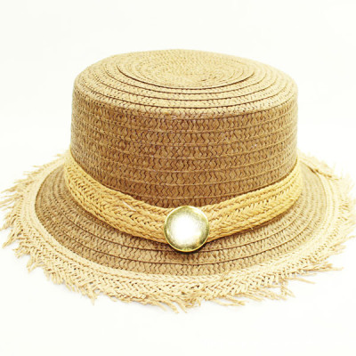 The Burr Bright Buckle Paper Straw Hat