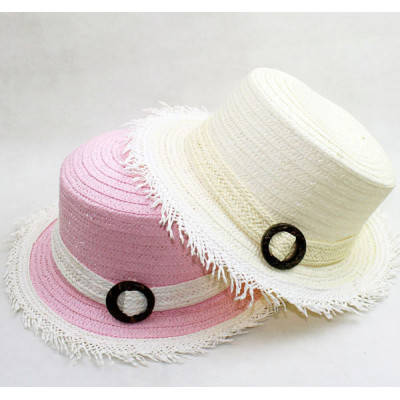 Small Burr Along The Dome Lara Paper Straw Sun Hat