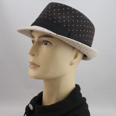 Dot Spell Color In Autumn And Winter New Wool Jazz Cap