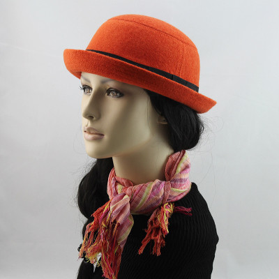 Autumn And Winter Wool Recommended Women The Dome Felt Hat