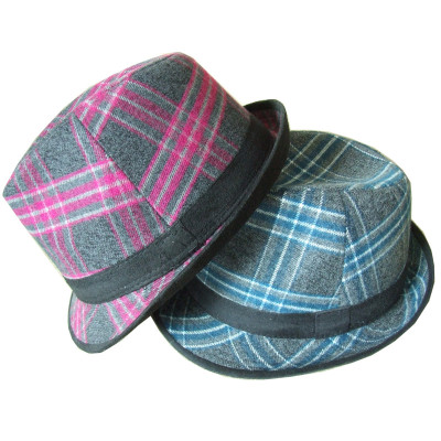 Plaid Mixed Batch Of Fall Plaid Hat Unisex Woolen The Officiating Hats