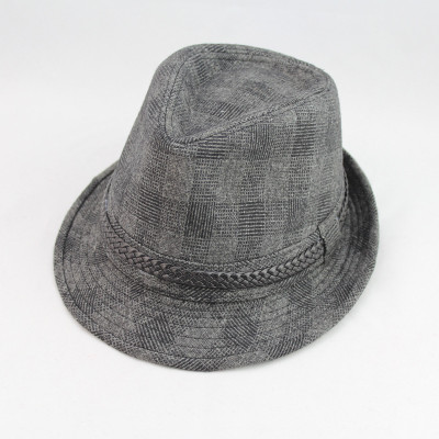 Retro Jazz Style Small Plaid Cool Casual Men's Hats