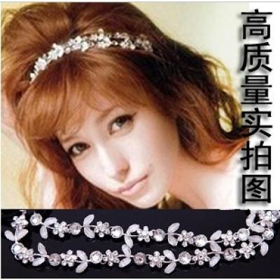 [Free shipping]Bride Wedding The Female Headdress / Flowers Rhinestone Hair Accessories Hair Band Hair Hoop Headband Princess