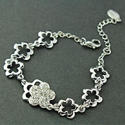 [Free shipping]Flash Diamond Bracelet Noble Crown Flash Diamond Bracelet