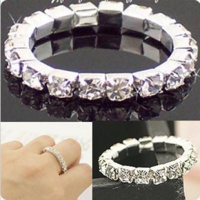 [Free Shipping]Favorite Stretch Flash Diamond Ring Bridal Jewelry