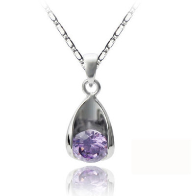 [Free Shipping][Beads Dai jewelry sterling silver necklace (with gift box) - Clarins