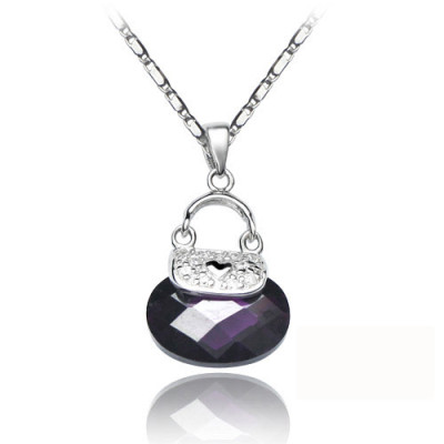 [Free Shipping]Silver necklace beads Dai jewelry (with gift box) - princess love package two-color