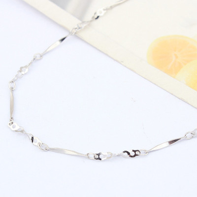 [Free Shipping]Beads Dai jewelry Special Silver 18-inch plated the white batch angle between twisted the 7 holes necklace with chain / factory direct wholesale