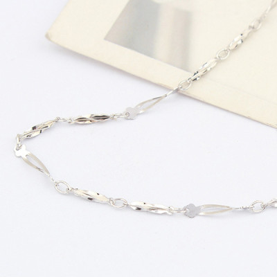 [Free Shipping]jewelry Specials Silver 16-inch the plated white short twist Plum Necklace with chain / factory direct wholesale