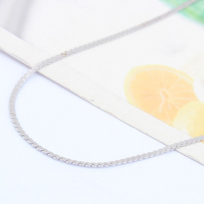 [Free Shipping]jewelry Special Silver 18 inch white balance S plated necklace with chain / factory direct wholesale