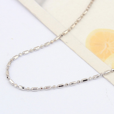 [Free Shipping]special 16-inch sterling silver oval bead necklace with chain / factory direct wholesale