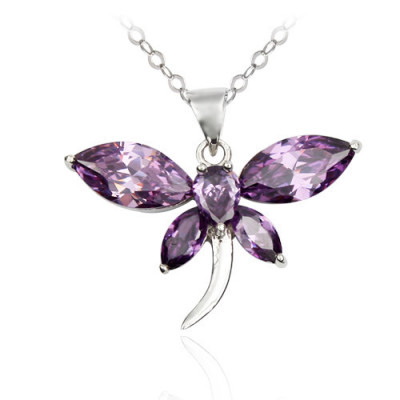 [Free Shipping]jewelry (with gift box) Silver Necklace - Dragonfly