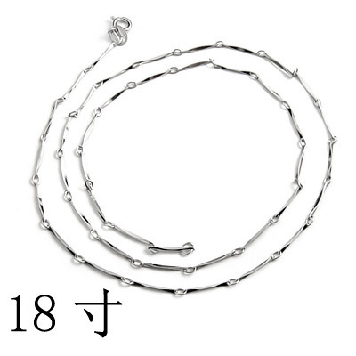 [Free Shipping] 18-inch sterling silver-plated white full batch angle necklace