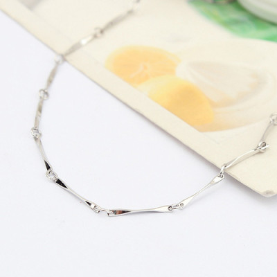 [Free Shipping] Special Silver 16-inch -plated white the whole batch corner necklace with chain / manufacturers direct wholesale