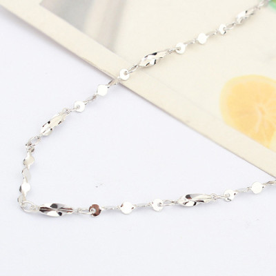 [Free Shipping]special 18-inch sterling silver -plated white twist grain of wheat of Gypsophila necklace with chain / manufacturers wholesale