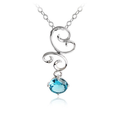[Free Shipping] with gift box sterling silver necklace - Splendour