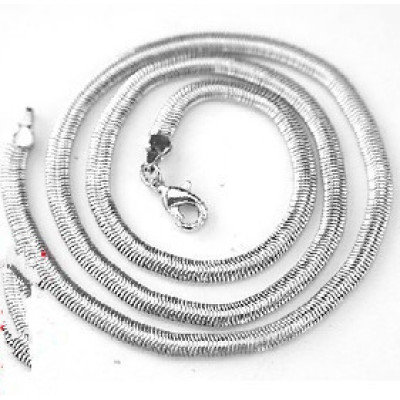 [Free Shipping] Does not fade silver chain stainless steel necklace men necklace titanium steel necklace with chain super handsome