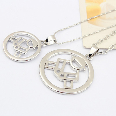 [Free Shipping]Korean fashion the hand life couple necklace