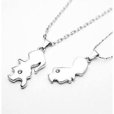 [Free Shipping] Valentine Recommended - couple necklace - childhood sweethearts