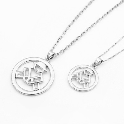 [Free Shipping] jewelry] couple bead necklace - hand life