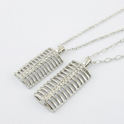 [Free Shipping]couple necklace - love the beat