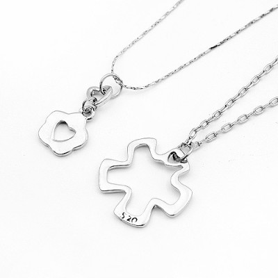 [Free Shipping]couple necklace - pure love