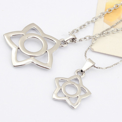 [Free Shipping] Korean fashion bath together in love couple necklace