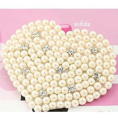 4 Color Optional Point Diamond Pearl Heart-shaped Peach Heart Hairpin