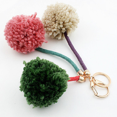 [Free Shipping] Happiness hairy ball phone pendant