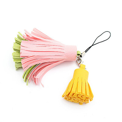 [Free Shipping] The phone chain fringed phone pendant