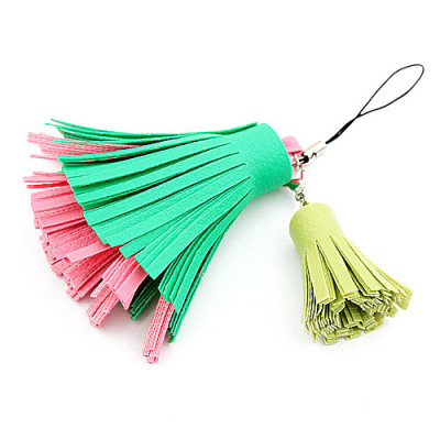 [Free Shipping] Ian benefits with mobile phone chain tassel phone pendant (green powder)