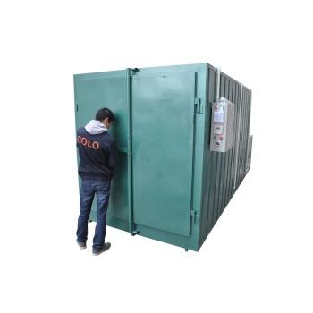 Gas powered batch powder coating ovens