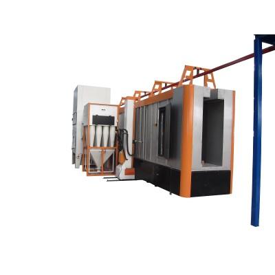 Systém stříkací kabiny s více cyklóny