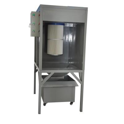 Prášková kabina s regenerací zásobníku
