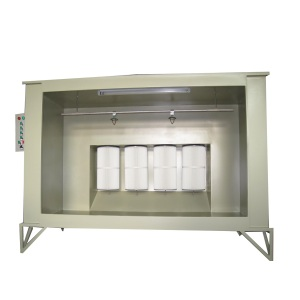 Open face powder coating spray paint booth