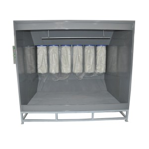 Electric powder coating booth