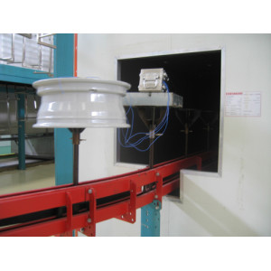 Four-channel powder coating  temperature tracker