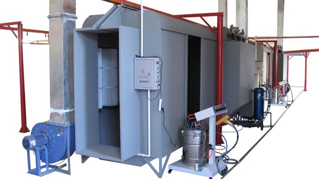 Powder coating spray booths china batch manual powder for Powder coating paint booth