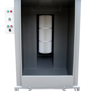 Basic powder cartridge booth system