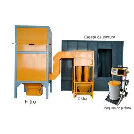 Sistema de pintura en polvo electrostático