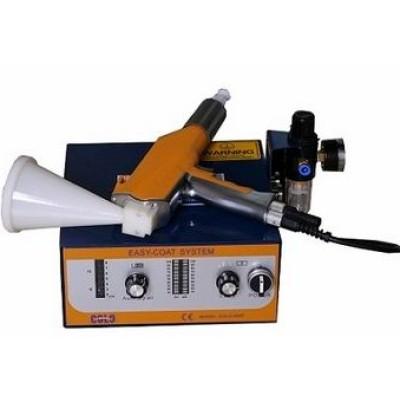 Malý testovací práškový lakovací stroj