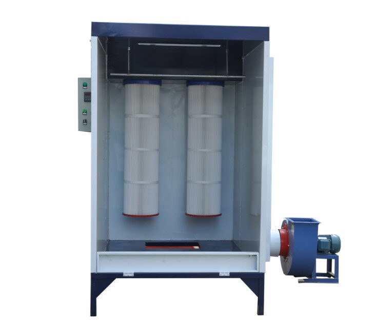 Pictures of new spray booth for powder coating batch for Powder coating paint booth