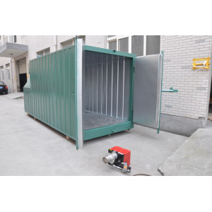 Gas powered powder coating oven
