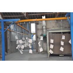 Pulverbeschichtungsanlage mit Vorbehandlung