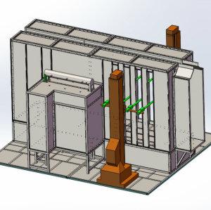 automatische pulverBeschichtungskabinen