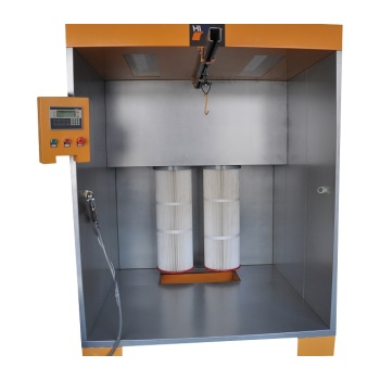 New spray booth with PLC