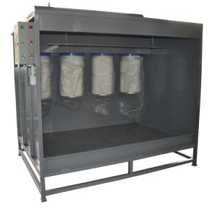 Manual powder spray booth