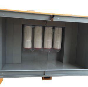 Gran caseta de pintura en polvo